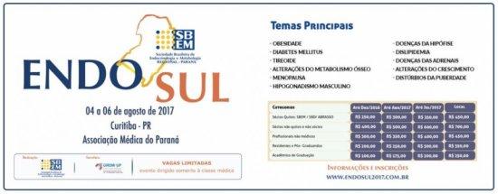 Congresso de endocrinologia acontece dias 4, 5 e 6 de agosto, em Curitiba (Bebel Ritzmann)